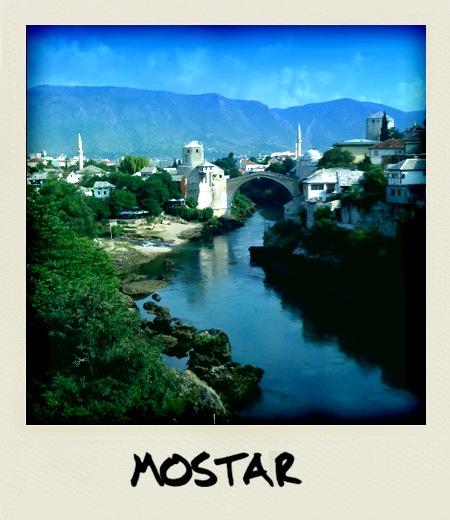 Jutro nad Mostarjem (fotografija narejena in obdelana z iPhone)